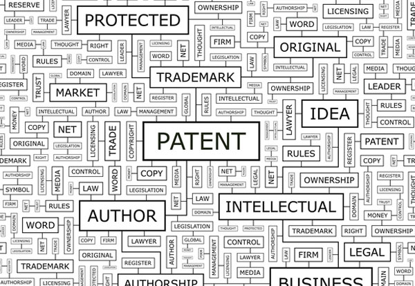Tag cloud of other intellectual property aspects and services provided by Sandercock & Cowie