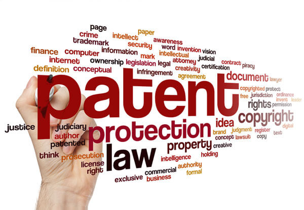 Tag cloud of patent services provided by Sandercock & Cowie